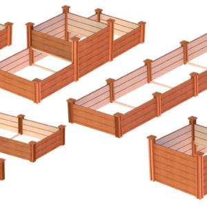 Heritage Modular raised garden bed 3 kit configurations