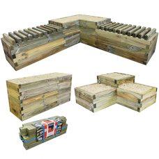 wood raised garden bed