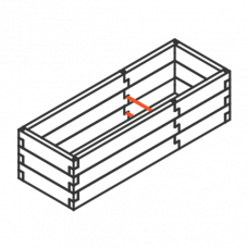 Sleeper modular raised garden bed