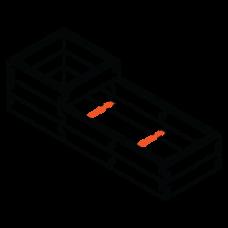 Sleeper modular raised garden bed Stacka_P_2