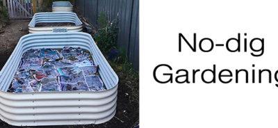 No-dig gardening Modular raised garden bed
