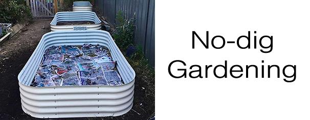 No-dig gardening raised garden bed