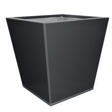 Tapered modern metal pot